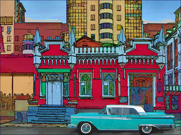 Ford Photograph - Ford Galaxy-town-victoria 1959 by Vladimir Kholostykh