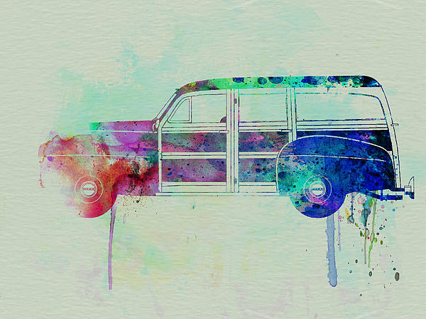 Ford Woody Painting - Ford Woody by Naxart Studio