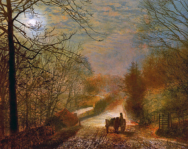 Grimshaw Painting - Forge Valley Near Scarborough by John Atkinson Grimshaw
