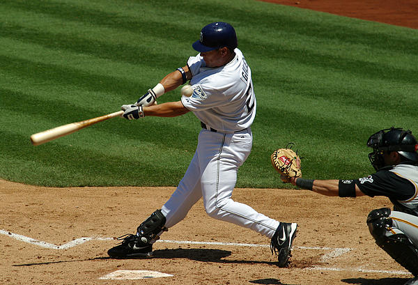 San Diego Padres Photograph - Fouling One Off by Don Olea