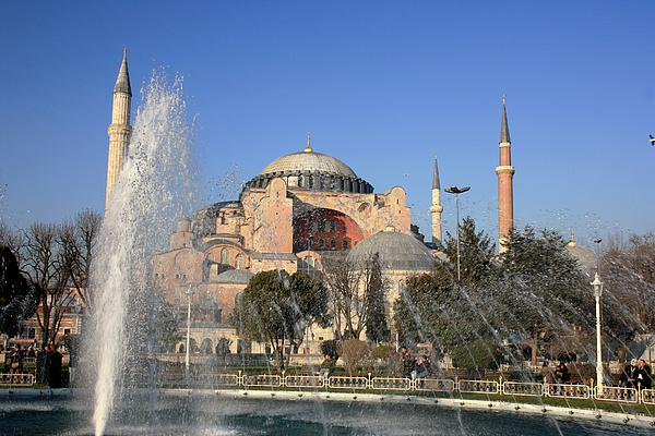 Istanbul Photograph - Fountains Of Wisdom by Frederic Vigne