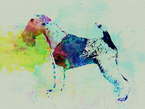 Fox Terrier Painting - Fox Terrier Watercolor by Naxart Studio