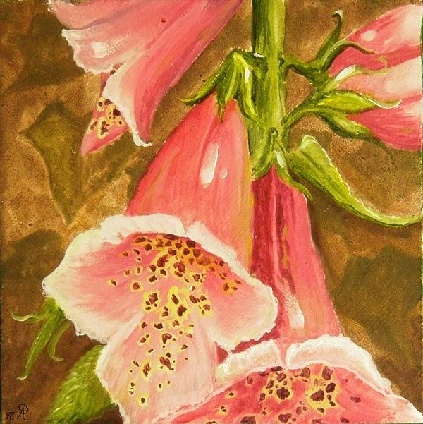 Flower Painting - Foxy Foxglove Of Williamsburg by Nicole Angell