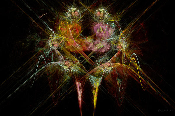 Angel Digital Art - Fractal - Christ - Angels Embrace by Mike Savad