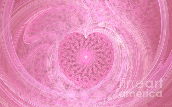 Love Photograph - Fractal Love by Peggy Hughes