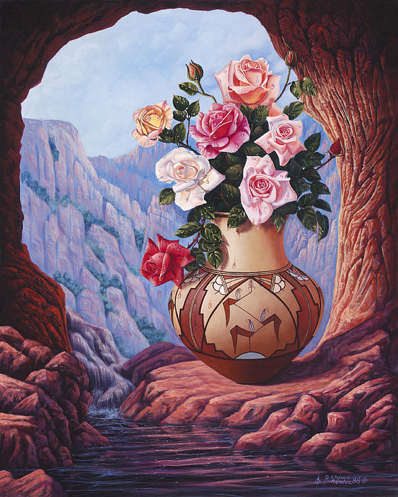 Flowers Painting - Fragrance And Dew by Ricardo Chavez-Mendez