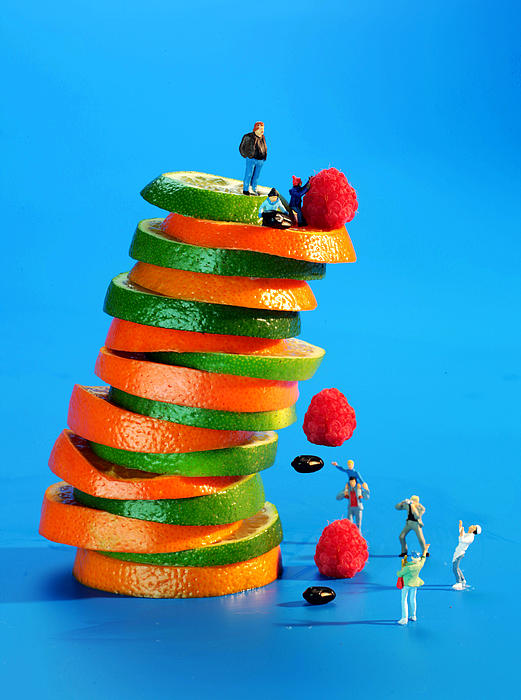 Galileo Photograph - Free Falling Bodies Experiment On Fruit Tower by Paul Ge