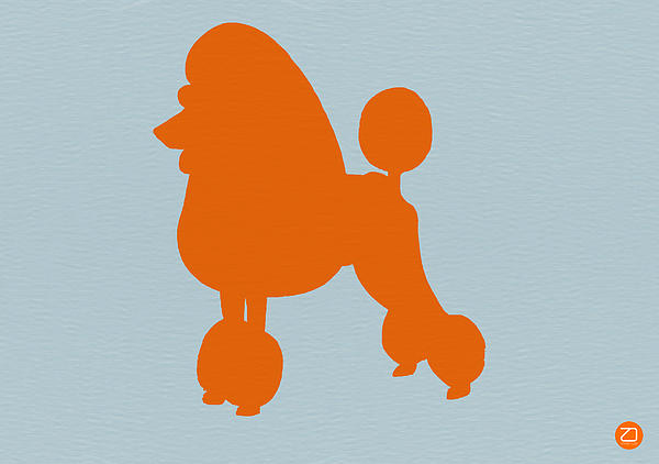 French Poodle Photograph - French Poodle Orange by Naxart Studio