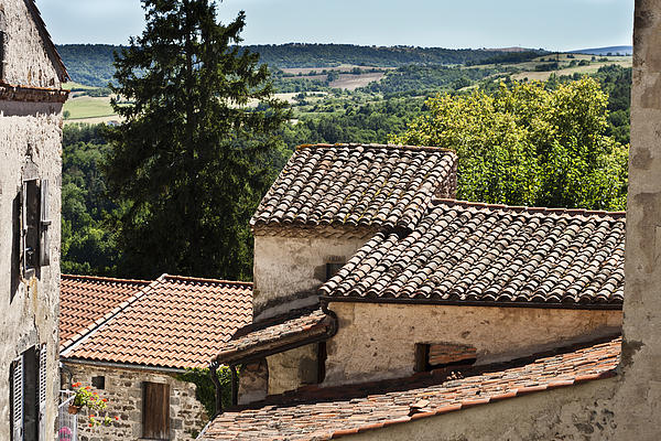 Auvergne Photograph - French Roofs by Georgia Fowler