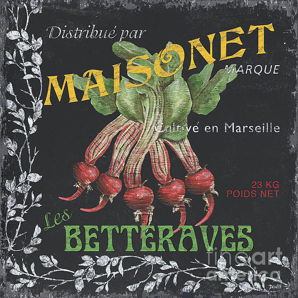 Vegetables Painting - French Veggie Labels 2 by Debbie DeWitt