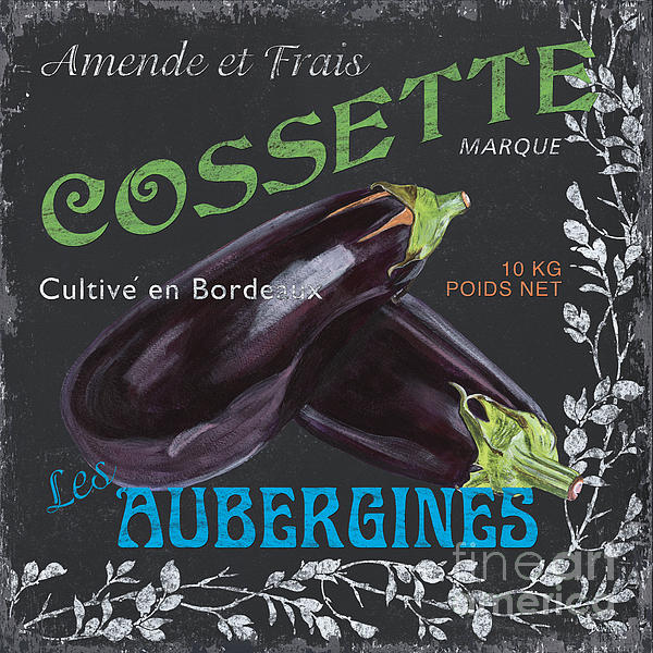 Produce Painting - French Veggie Labels 4 by Debbie DeWitt