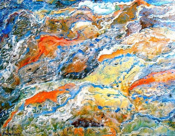 Abstract Painting - Froth by Karunita Kapoor