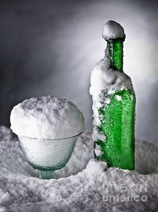 Alcohol Photograph - Frozen Bottle Ice Cold Drink by Dirk Ercken