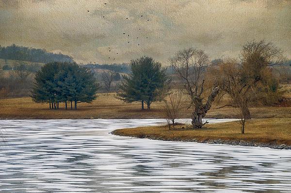 Winter Photograph - Frozen Lake by Kathy Jennings