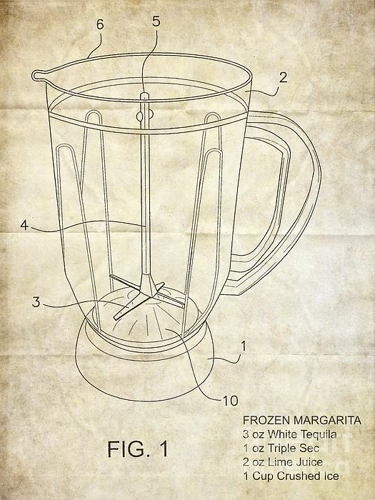 Patent Photograph - Frozen Margarita Recipe Patent by Edward Fielding
