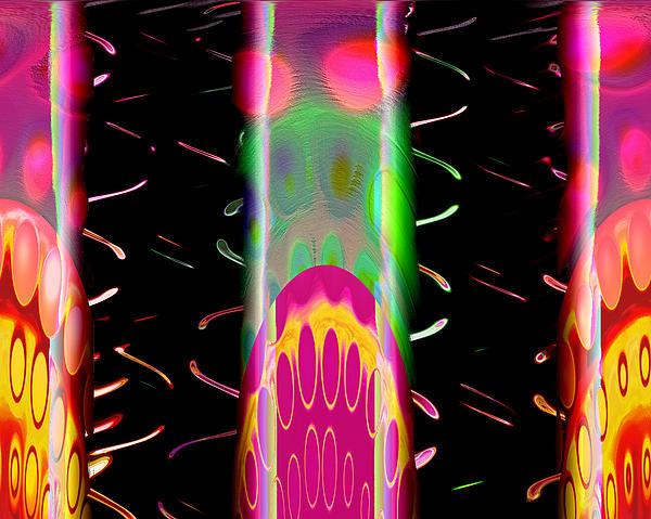 Fruit Punch In Tall Glasses Digital Art - Fruit Punch In Tall Glasses by Wendy J St Christopher
