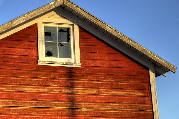 Ft Photograph - Ft Collins Barn Sunset 2 13508 by Jerry Sodorff