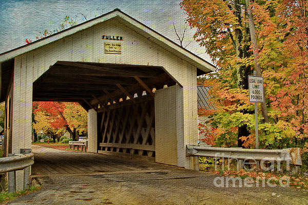 Covered Bridge Photograph - Fuller Lattice 1890 by Deborah Benoit