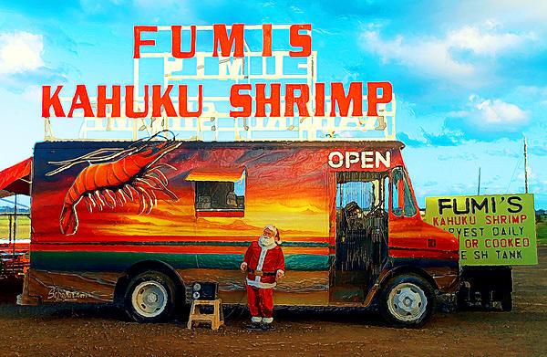 North Shore Photograph - Fumis Kahuku Shrimp by Ron Regalado