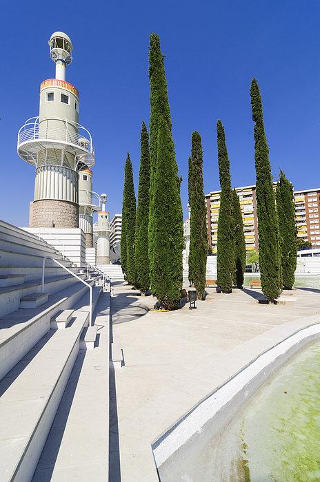 Barcelona Photograph - Futuristic Park In Barcelona Spain by Matthias Hauser