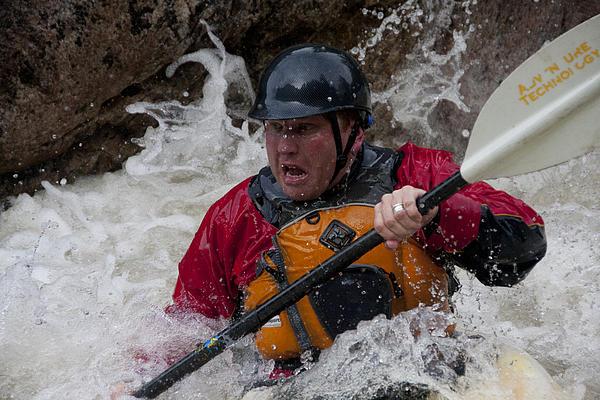 Kayaking Photograph - Gallatin Kayaker  by Jason Standiford