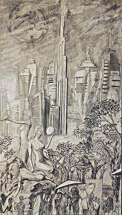 Landscape Drawing - Gammora by George Harrison