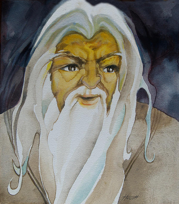 Portrait Painting - Gandalf The White by Patricia Howitt