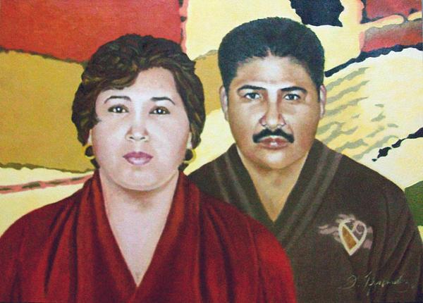 Garcia Painting - Garcia Family Portrait  Retrato De La Pareja Garca by Fernando A Hernandez
