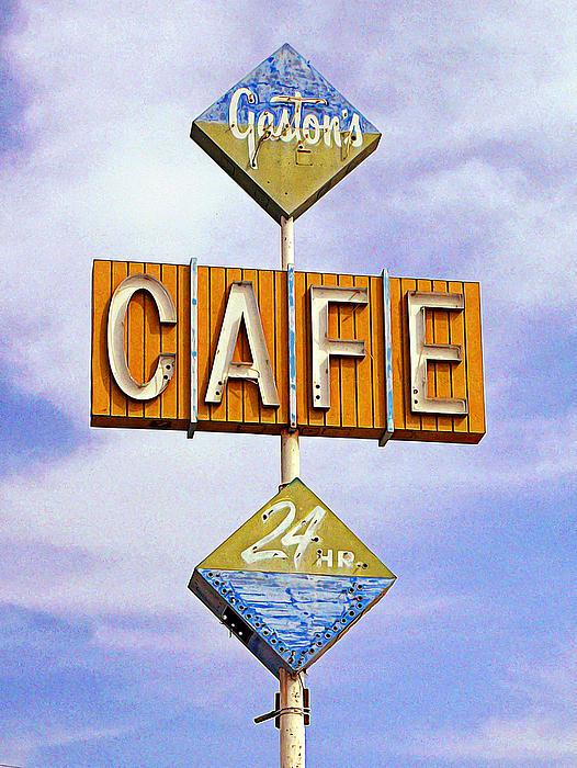 Niland Photograph - Gastons Cafe by Ron Regalado