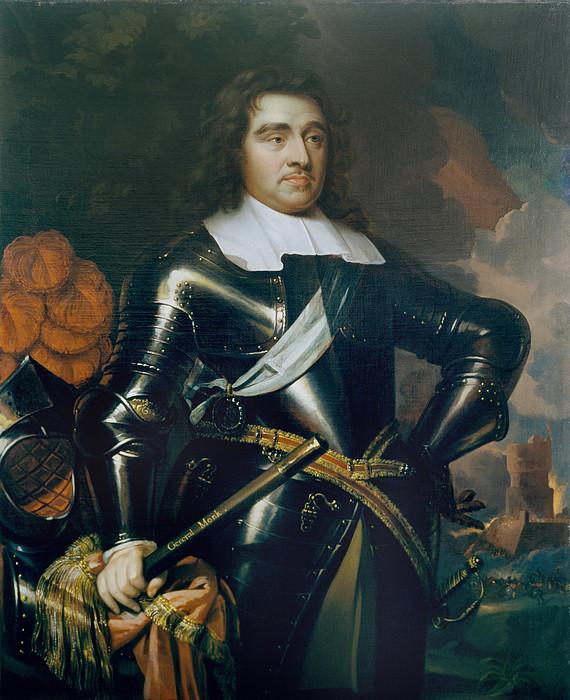 Three-quarter Length Painting - General George Monk 1st Duke by Samuel Cooper
