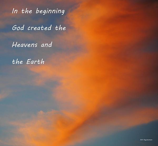 Sky Photograph - Genesis by DiDi Higginbotham