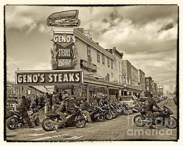 Italian Market Photograph - Genos With Cycles by Jack Paolini