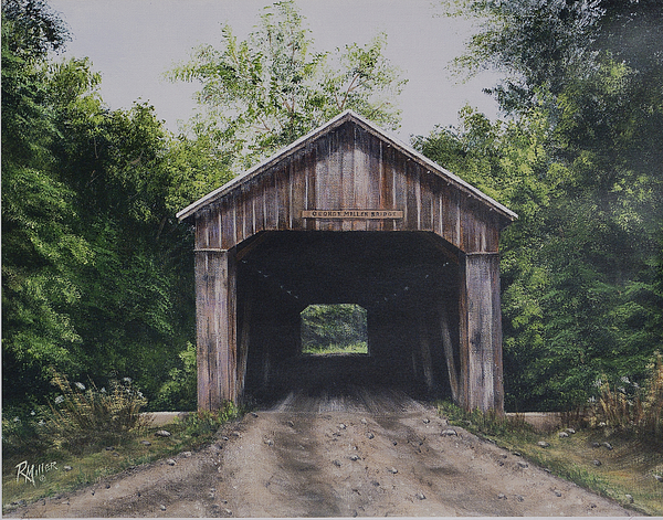 brown county state park cabins bridge painting george