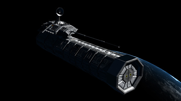 Satellite Digital Art - German Orbital Weapons Platform by Rhys Taylor