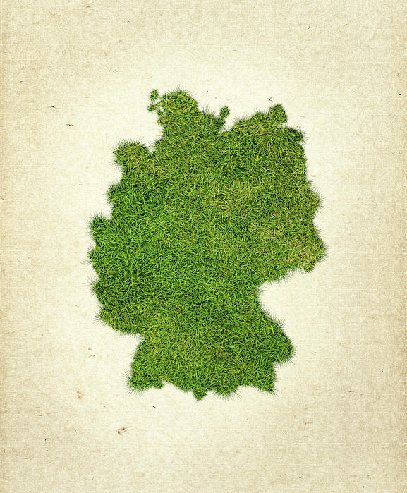 Map Of Germany Photograph - Germany Grass Map by Aged Pixel