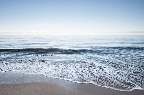 Germany, Mecklenburg-western Pomerania, Usedom, Waves On The Beach Photograph by Westend61
