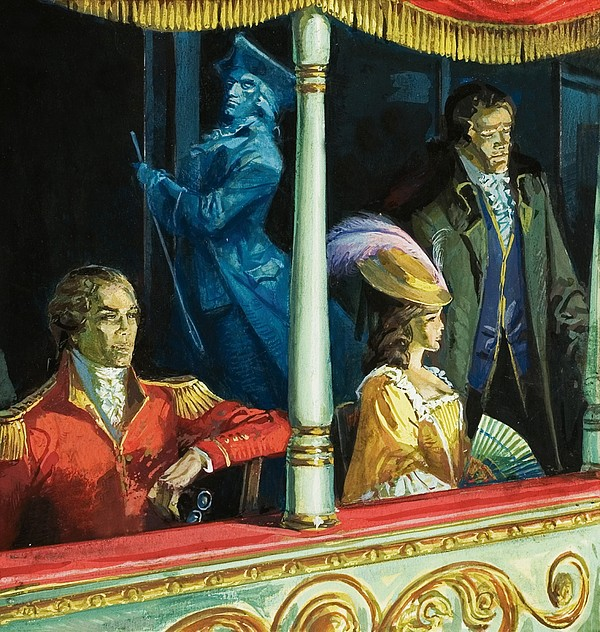 Ghost Drawing - Ghost At The Theatre by Andrew Howat