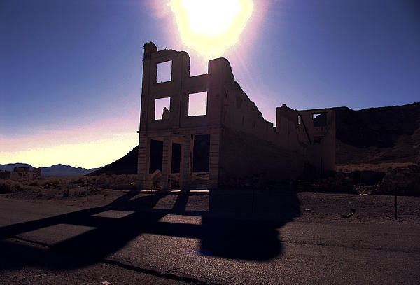 Landscape Photograph - Ghost Town - Bank Closed by Maria Arango Diener