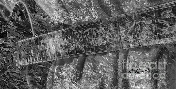 Acoustic Photograph - Gibson In Black And White Digital Guitar Art By Steven Langston by Steven Lebron Langston