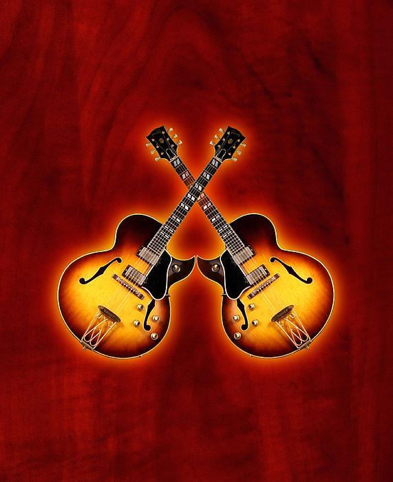 Gibson Digital Art - Gibson Jazz by Doron Mafdoos