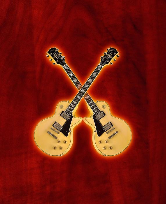 Gibson Digital Art - Gibson Randy Rhoads Les Paul Custom by Doron Mafdoos