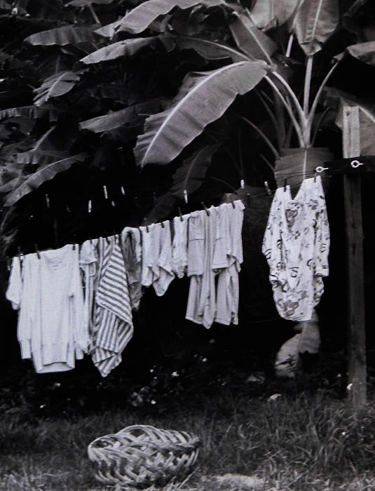 Clothes Line Photograph - Ginas Clothes Line by Christy Usilton