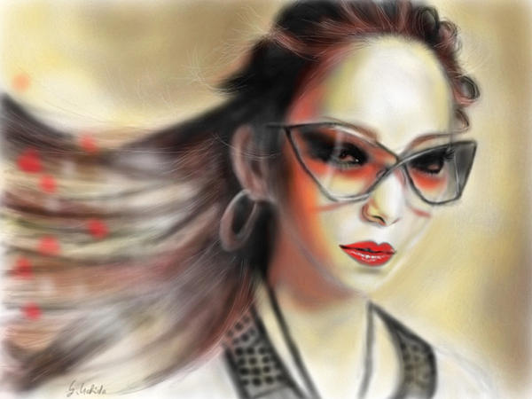 Ipad Painting - Girl No.38 by Yoshiyuki Uchida