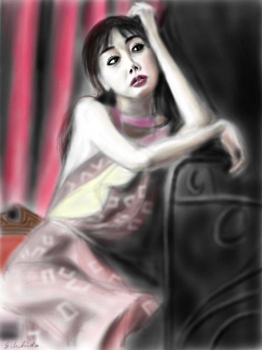 Ipad Painting - Girl No.43 by Yoshiyuki Uchida
