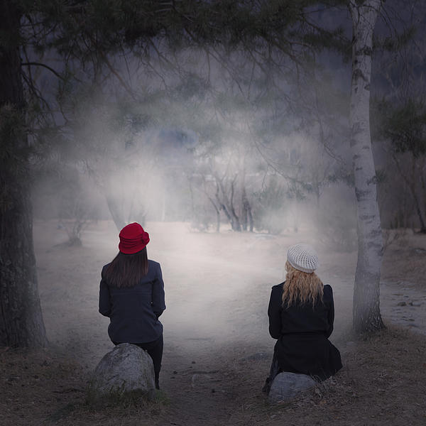Girl Photograph - Girlfriends by Joana Kruse