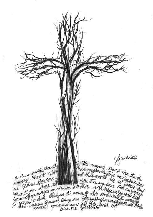 Cross Drawing - Give Me Jesus by J Ferwerda