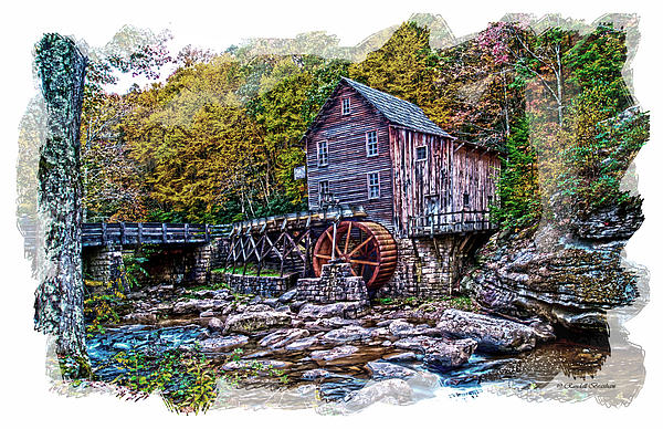 Grist Mill Photograph - Glade Creek Grist Mill by Randall Branham