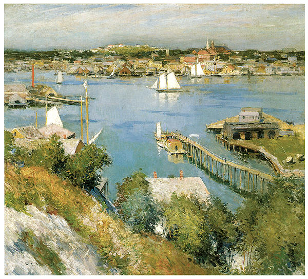 Metcalf Painting - Gloucester Harbour by William Leroy Metcalf