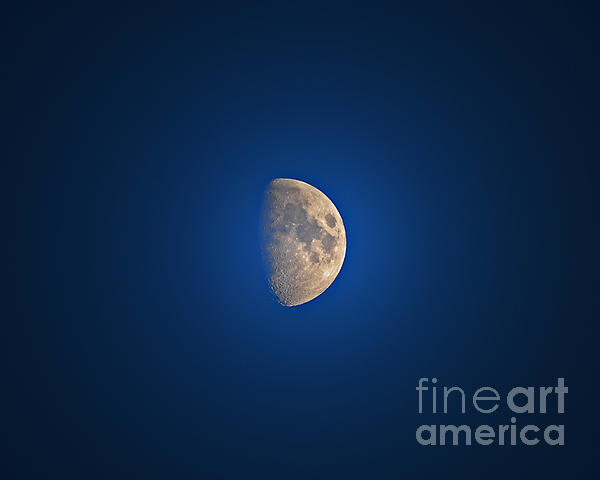 Moon Photograph - Glowing Gibbous by Al Powell Photography USA