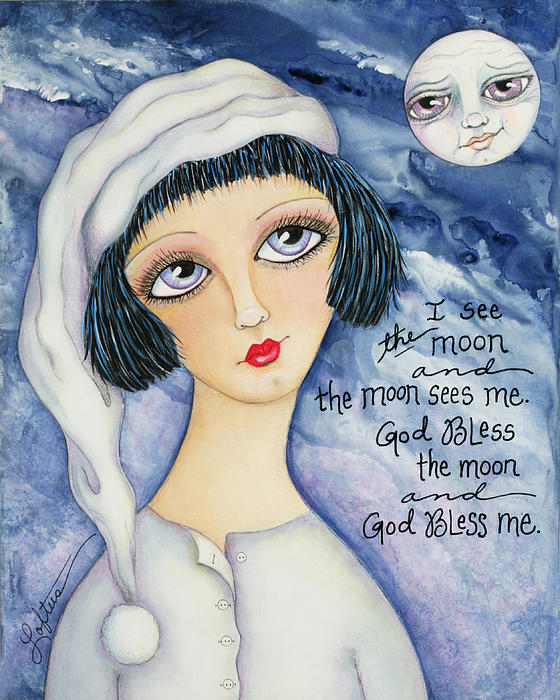 Bedtime Painting - God Bless Me by Joann Loftus